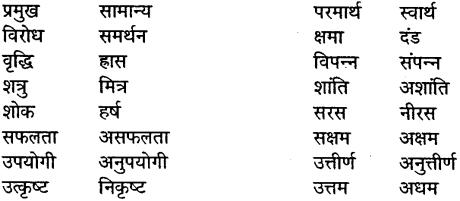 MP Board Class 10th General Hindi व्याकरण विलोम या विपरीतार्थी शब्द img-2