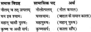 समास विग्रह कीजिए Class 10 Sanskrit MP Board