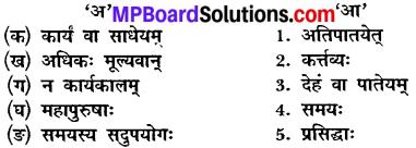 संस्कृत के प्रश्न उत्तर कक्षा 10 MP Board