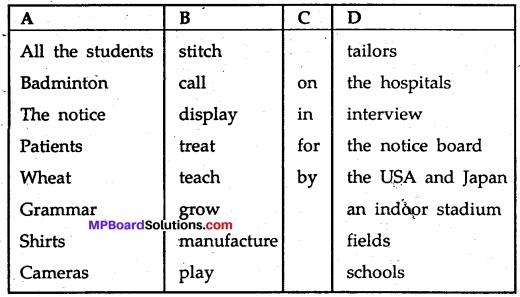 MP Board Class 11th English A Voyage Workbook Solutions Unit 2 Grammar 7