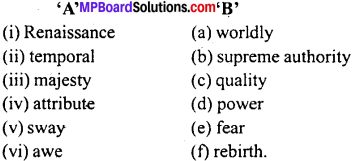 MP Board Class 11th Special English Vocabulary Exercises Important Questions 3