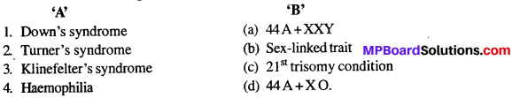 MP Board Class 12th Biology Solutions Chapter 5 Principles of Inheritance and Variation 13