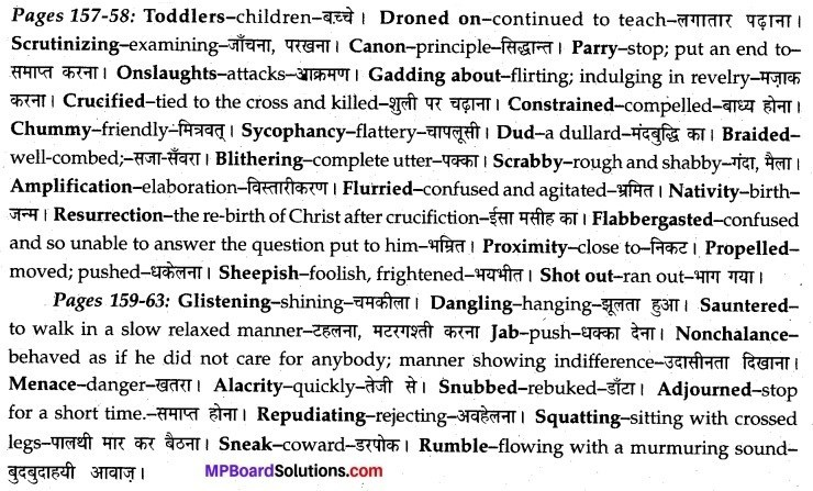 Swami And Friends Questions Answers Chapter 20 MP Board Class 12th English A Voyage Solutions