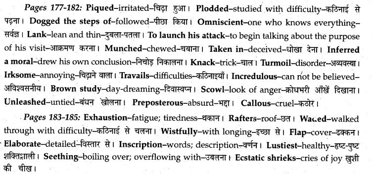 Swami And Friends Summary Class 12 MP Board English A Voyage Solutions Chapter 20