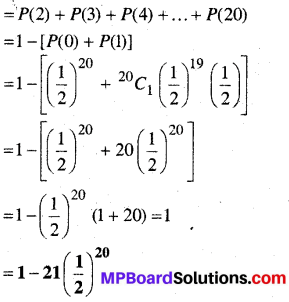 MP Board Class 12th Maths Book Solutions Chapter 13 प्रायिकता Ex 13.5 img 5