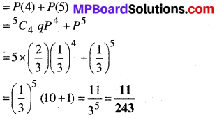 MP Board Class 12th Maths Book Solutions Chapter 13 प्रायिकता Ex 13.5 img 8