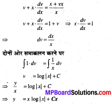 MP Board Class 12th Maths Book Solutions Chapter 9 अवकल समीकरण Ex 9.5 img 3