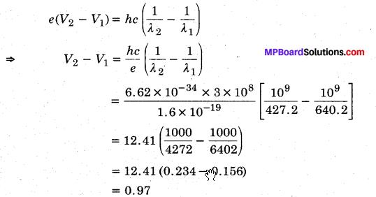 MP Board Class 12th Physics Solutions Chapter 11 विकिरण तथा द्रव्य की द्वैत प्रकृति img 16