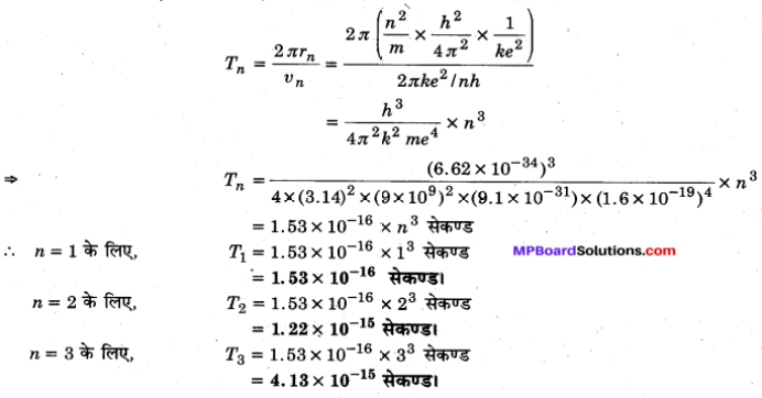 MP Board Class 12th Physics Solutions Chapter 12 परमाणु img 4