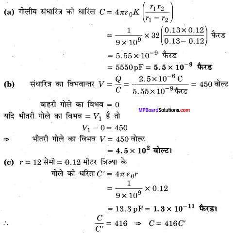 MP Board Class 12th Physics Solutions Chapter 2 स्थिरवैद्युत विभव तथा धारिता img 53