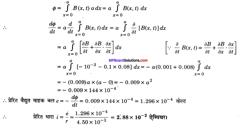 MP Board Class 12th Physics Solutions Chapter 6 वैद्युत चुम्बकीय प्रेरण img 10