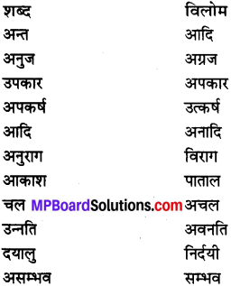 MP Board Class 7th Special Hindi व्याकरण 3