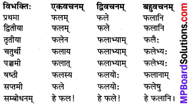 MP Board Class 8th Sanskrit व्याकरण-खण्डः 10