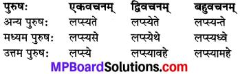 MP Board Class 8th Sanskrit व्याकरण-खण्डः 42