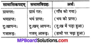 MP Board Class 8th Sanskrit व्याकरण-खण्डः 51