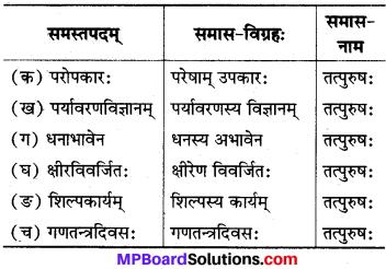 MP Board Class 8th Sanskrit Solutions विविधप्रश्नावलिः 1 Q7