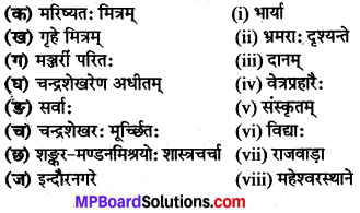 MP Board Class 8th Sanskrit Solutions विविधप्रश्नावलिः 2 Q8