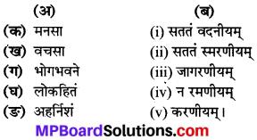 MP Board Class 8th Sanskrit Solutions Chapter 1 लोकहितं मम करणीयम् 1
