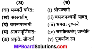 MP Board Class 8th Sanskrit Solutions Chapter 9 वसन्तोत्सवः 1