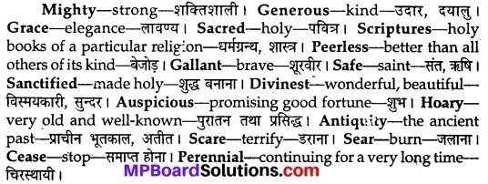 MP Board Class 9th English The Rainbow Solutions Chapter 1 Bharat Our Land 4