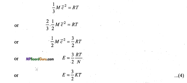 MP Board Class 11th Physics Important Questions Chapter 13 Kinetic Theory 3