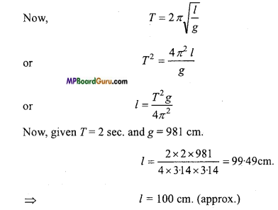 MP Board Class 11th Physics Important Questions Chapter 14 Oscillations 10