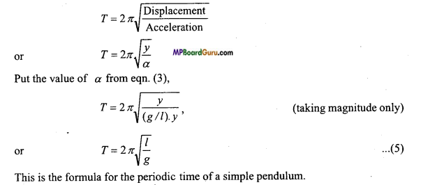 MP Board Class 11th Physics Important Questions Chapter 14 Oscillations 12
