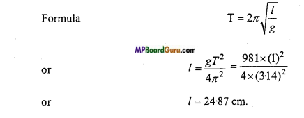 MP Board Class 11th Physics Important Questions Chapter 14 Oscillations 18