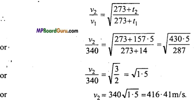 MP Board Class 11th Physics Important Questions Chapter 15 Waves Important 20