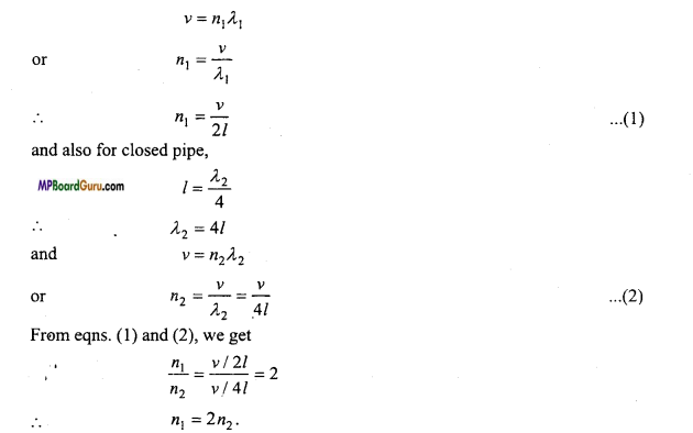 MP Board Class 11th Physics Important Questions Chapter 15 Waves Important 7