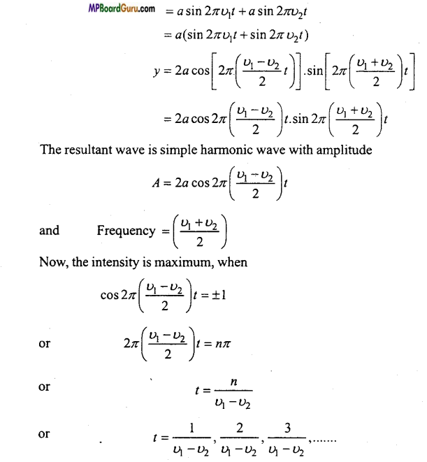 MP Board Class 11th Physics Important Questions Chapter 15 Waves Important 8