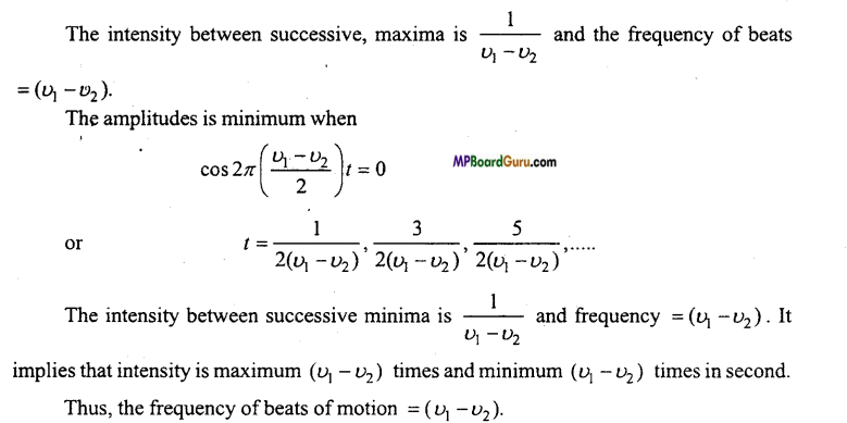 MP Board Class 11th Physics Important Questions Chapter 15 Waves Important 9