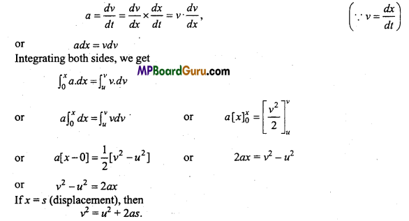 MP Board Class 11th Physics Important Questions Chapter 3 Motion in a Straight Line 10