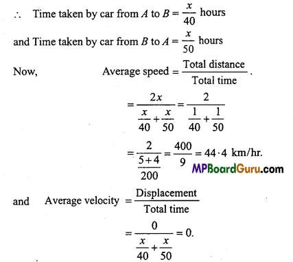 MP Board Class 11th Physics Important Questions Chapter 3 Motion in a Straight Line 11