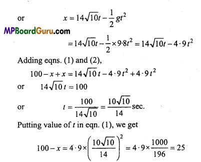 MP Board Class 11th Physics Important Questions Chapter 3 Motion in a Straight Line 17