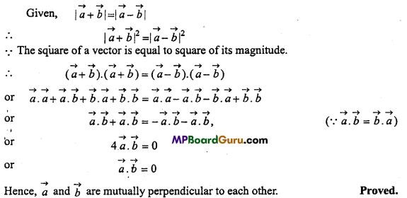 MP Board Class 11th Physics Important Questions Chapter 4 Motion in a Plane 22