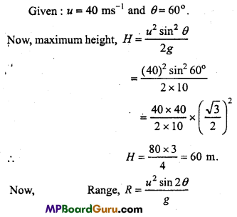 MP Board Class 11th Physics Important Questions Chapter 4 Motion in a Plane 29
