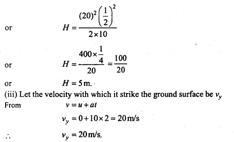 MP Board Class 11th Physics Important Questions Chapter 4 Motion in a Plane 38