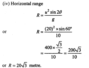 MP Board Class 11th Physics Important Questions Chapter 4 Motion in a Plane 39