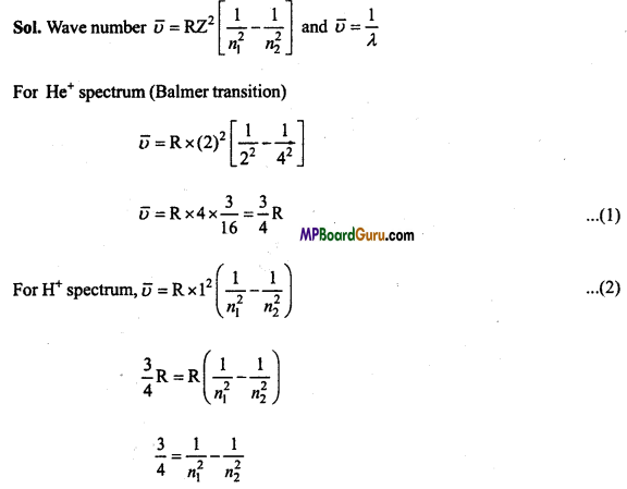 MP Board Class 11th Chemistry Important Questions Chapter 2 Structure of Atom 36