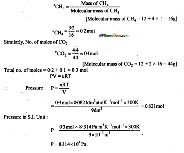 MP Board Class 11th Chemistry Important Questions Chapter 5 States of Matter 5
