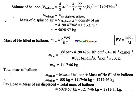 MP Board Class 11th Chemistry Important Questions Chapter 5 States of Matter 6