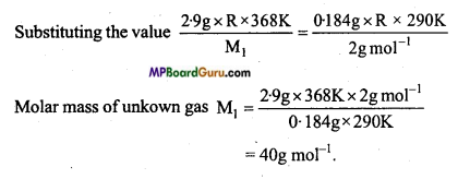MP Board Class 11th Chemistry Important Questions Chapter 5 States of Matter 8