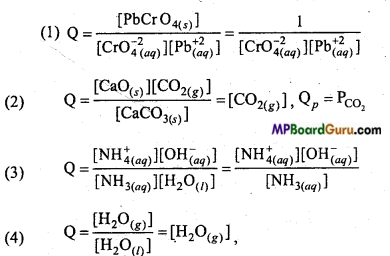 MP Board Class 11th Chemistry Important Questions Chapter 7 Equilibrium 10
