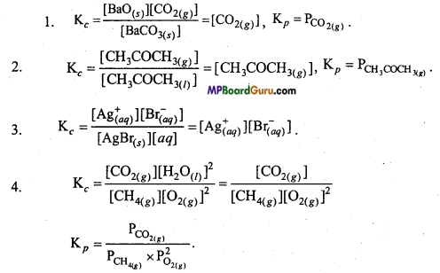 MP Board Class 11th Chemistry Important Questions Chapter 7 Equilibrium 12