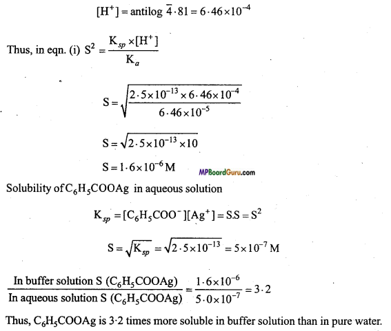 MP Board Class 11th Chemistry Important Questions Chapter 7 Equilibrium 40