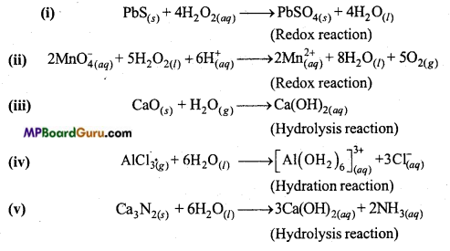 MP Board Class 11th Chemistry Important Questions Chapter 9 Hydrogen 51