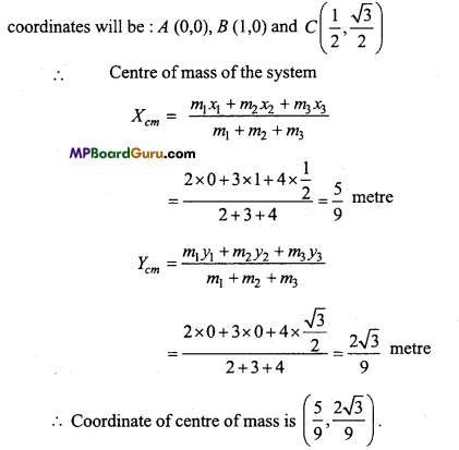 MP Board Class 11th Physics Important Questions Chapter 7 System of Particles and Rotational Motion 15