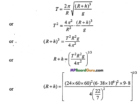 MP Board Class 11th Physics Important Questions Chapter 8 Gravitation 11