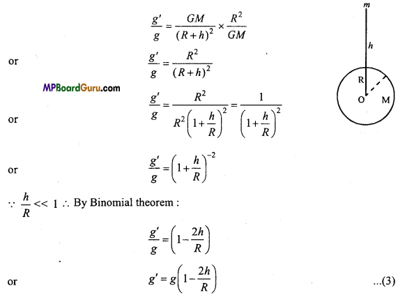 MP Board Class 11th Physics Important Questions Chapter 8 Gravitation 2